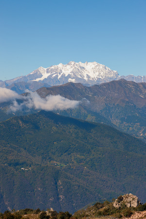 lago: mountain panorama near Lago Maggiore, Italy Stock Photo