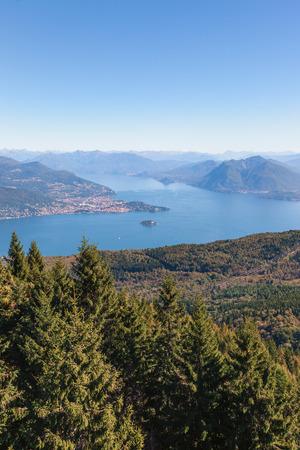 lago: View of coastline of  Lago Maggiore, Italy Stock Photo