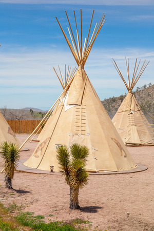 wigwam: National wigwam of American Indians. Outdoor photography in Nevada, USA