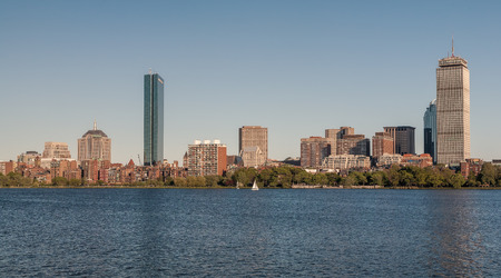 back bay: Skyline of Back Bay Boston, Massachusetts, USA