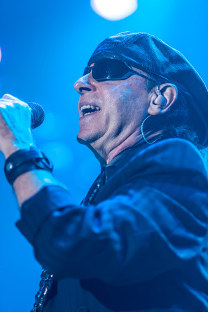 sc: DNIPROPETROVSK, UKRAINE – OCTOBER 31: Klaus Meine from Scorpions rock band performs live at Sports Palace SC Meteor.  Final tour concert on October 31, 2012 in DNIPROPETROVSK, UKRAINE ( (Photo by Volodymyr Melnyk)