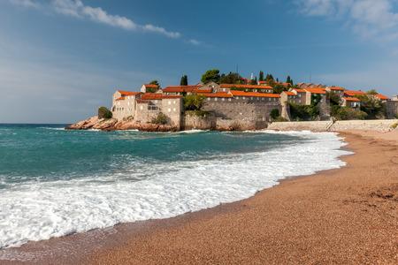 sveti: St. Stephan island in Adriatic Sea in Montenegro, Stock Photo