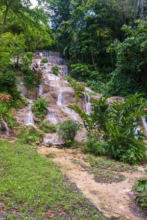 The picturesque Dunns River Falls. Jamaica, Caribbean
