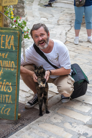 locals: The tourist and locals cat. Istria, Croatia