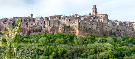 Panorama of the Pitigliano - city on clif in Italy photo