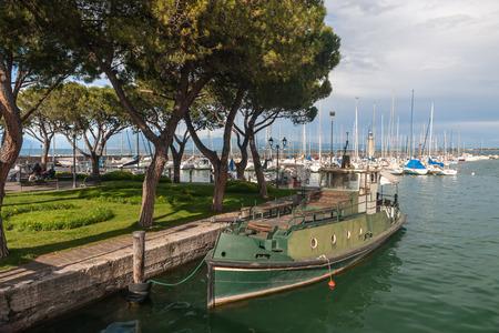torri: boats in the harbor, Lake Garda, Italy