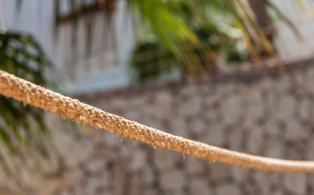 el sheikh: close-up view of the rope fence of pier in summer vacation time in Sharm el Sheikh, Egypt