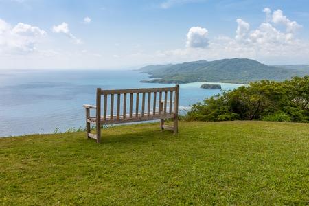 Jamaican Beach A. Caribbean beach on the northern coast of Jamaica, near Dunns River Falls and the town of Ocho Rios.