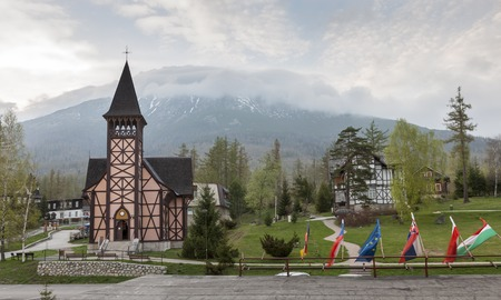 stary: The church in Slovakia, Stary Smokovec. Vysoke Tatry Stock Photo