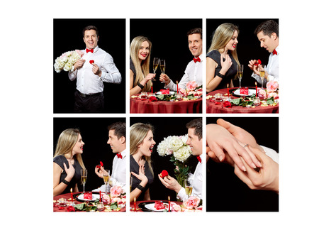 decided: Collage of lovely couple who decided to get married
