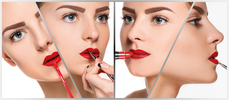 pomatum: The makeup collage with professional make-up details