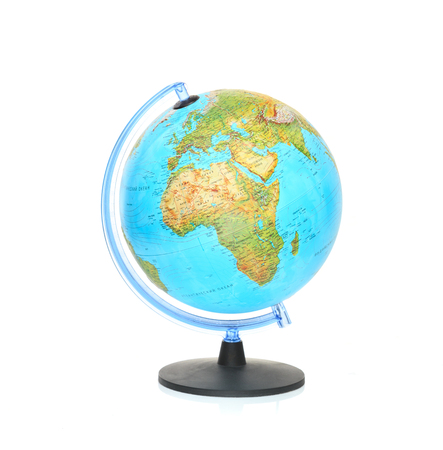 The globe isolated on the white background