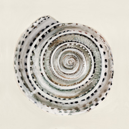 disgusting: The sea shell in pastel colors - oil painting Stock Photo