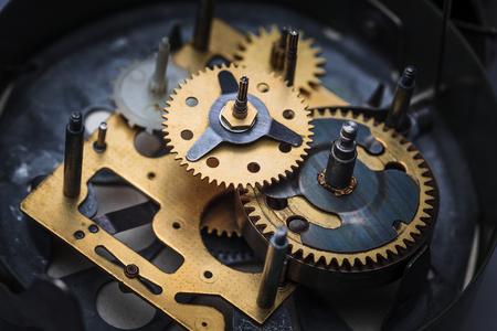 Die Makro-Ansicht der alten Uhr Mechanismus