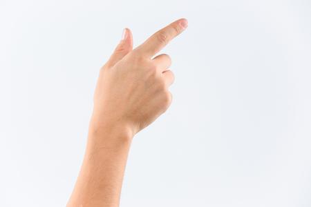 흰 배경에 고립 된 사람의 손 스톡 콘텐츠 - 65544526