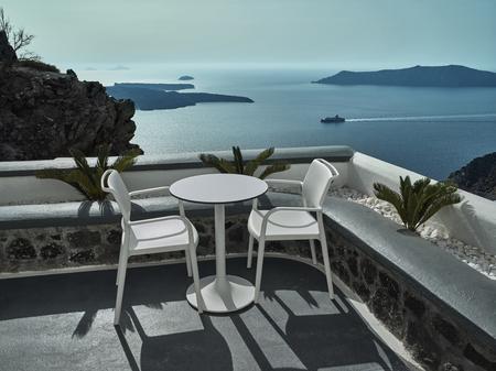 fira: Landscape of Santorini Island, Fira, Cyclades, Greece
