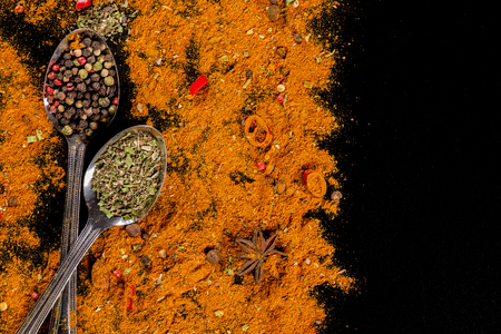 Herbs and spices selection - cooking, healthy eating Stock Photo