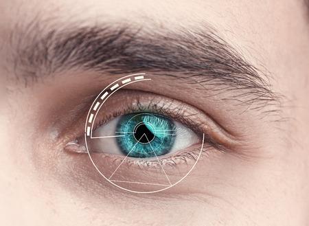 digital eye: Digital Eye of a young man Stock Photo