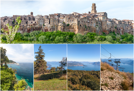 Panorama of the Pitigliano - city on clif in Italy