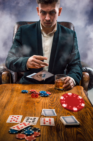 gambling counter: The chips for gamblings, drink and playing cards