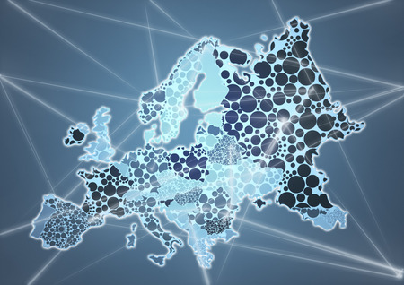 Color Country Map of Europe Stock Photo - 74889307