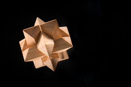 logical: The wooden puzzle - game with blocks