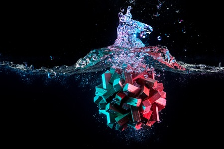 Water splash with puzzle effect Stock Photo - 75002892