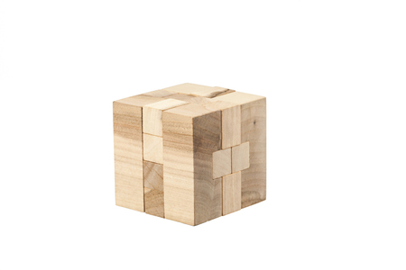 The wooden puzzle - game with blocks
