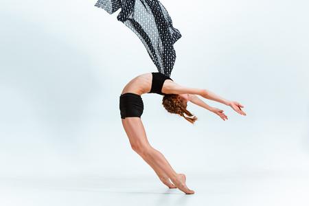 Young girl break dancing