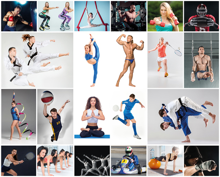 Collage about different kind of sports Stock Photo