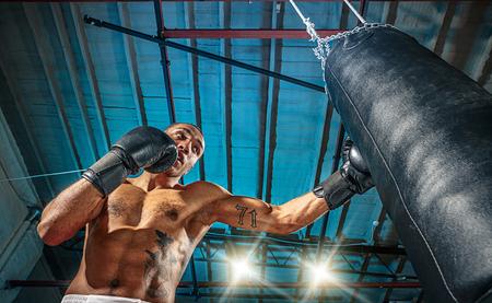 Afro american male boxer. Standard-Bild - 78206061