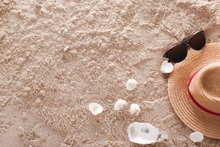 The abstract sandy tropical beach