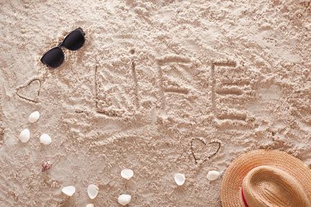 Life at sandy tropical beach