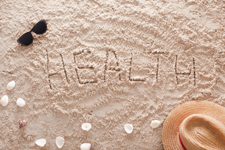 Health in a sandy tropical beach Stock Photo