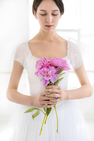 Portrait of a young bride Stock Photo