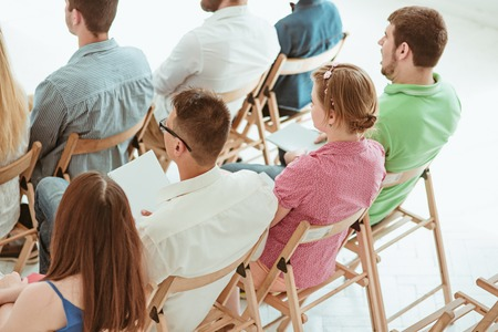 faculty: The people at Business Meeting in the conference hall. Stock Photo