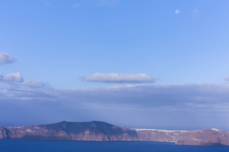 Aegean sea view with Volcanic nature, Greece, Santorini Stock Photo