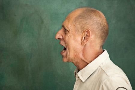 Screaming Senior Man