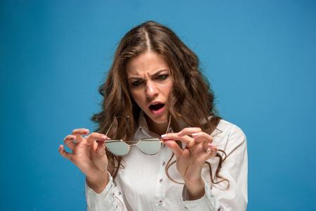 Het portret van onverslaafde vrouw Stockfoto