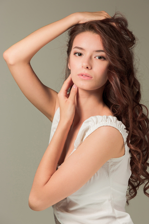The face of young woman Stock Photo