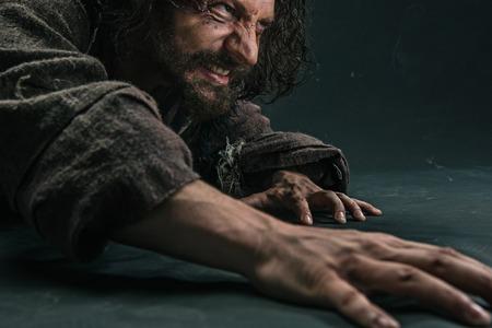 Actor in makeup, a poor man