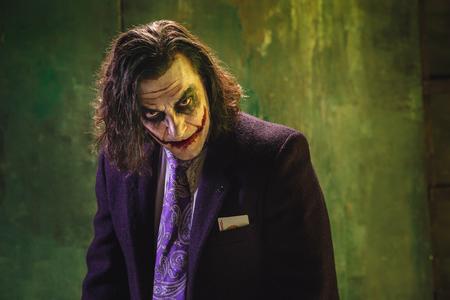 피 묻은 할로윈 테마 : 미친 조커 얼굴
