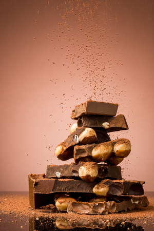 Pile of broken chocolate