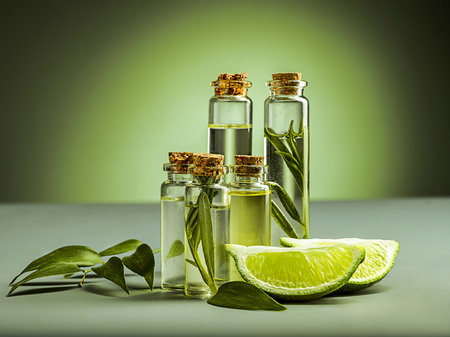 The essential oil of lime oil