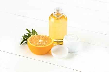 oranges oil and Orange Stock Photo - 89880541