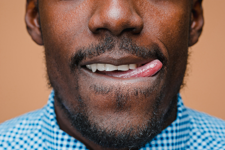 Portrait of a very happy afro American man Archivio Fotografico