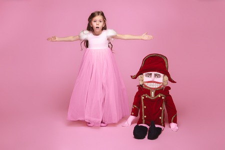 The beauty ballerina with nutcracker Stock Photo
