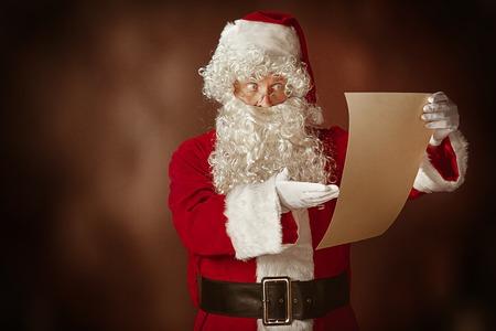 Portrait of Man in Santa Claus Costume Stock Photo