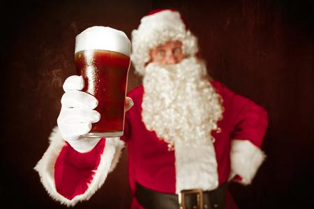 Portrait of Man in Santa Claus Costume Foto de archivo