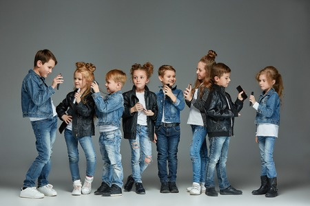 Group of Children Studio Concept Stock Photo